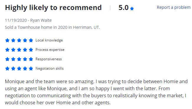 read reviews on Zillow